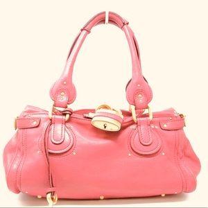 Chloe Paddington baby pink handbag